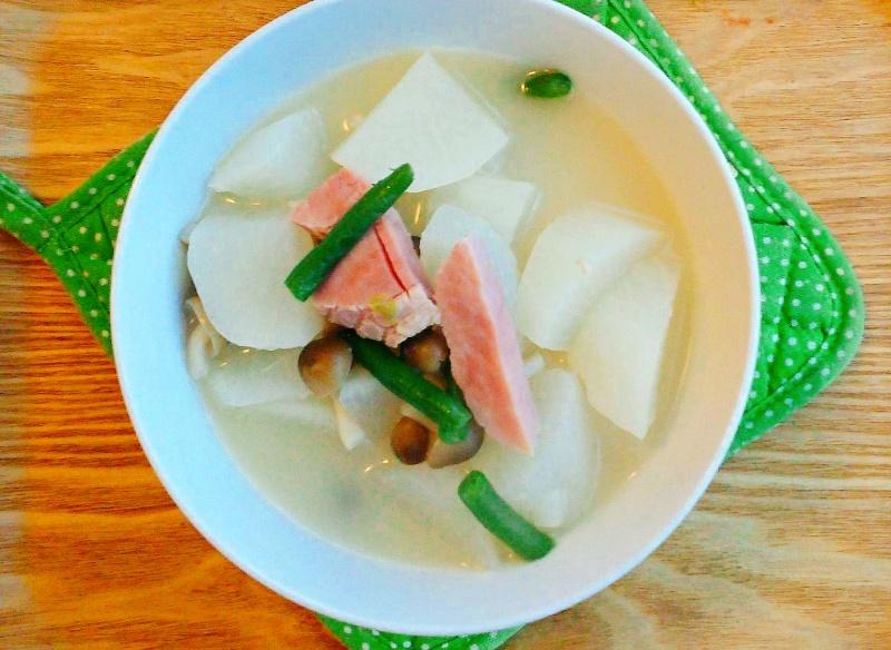 大根白湯スープ