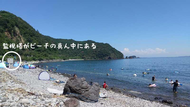 安心安全の川奈海水浴場