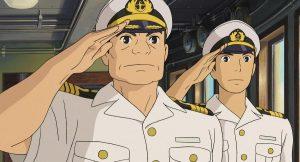 夏服着用の船長さん